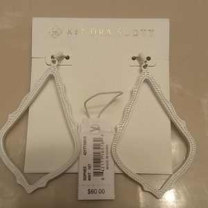 Worn once KS Sophee Matte White drop earrings